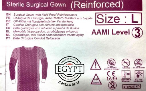 sterile AAMI Level 3 Isolation Gowns