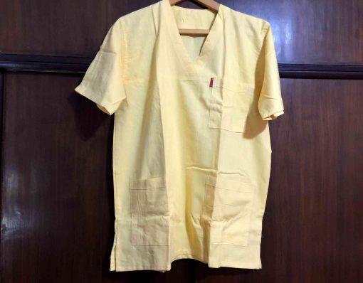 yellow nursing scrubs